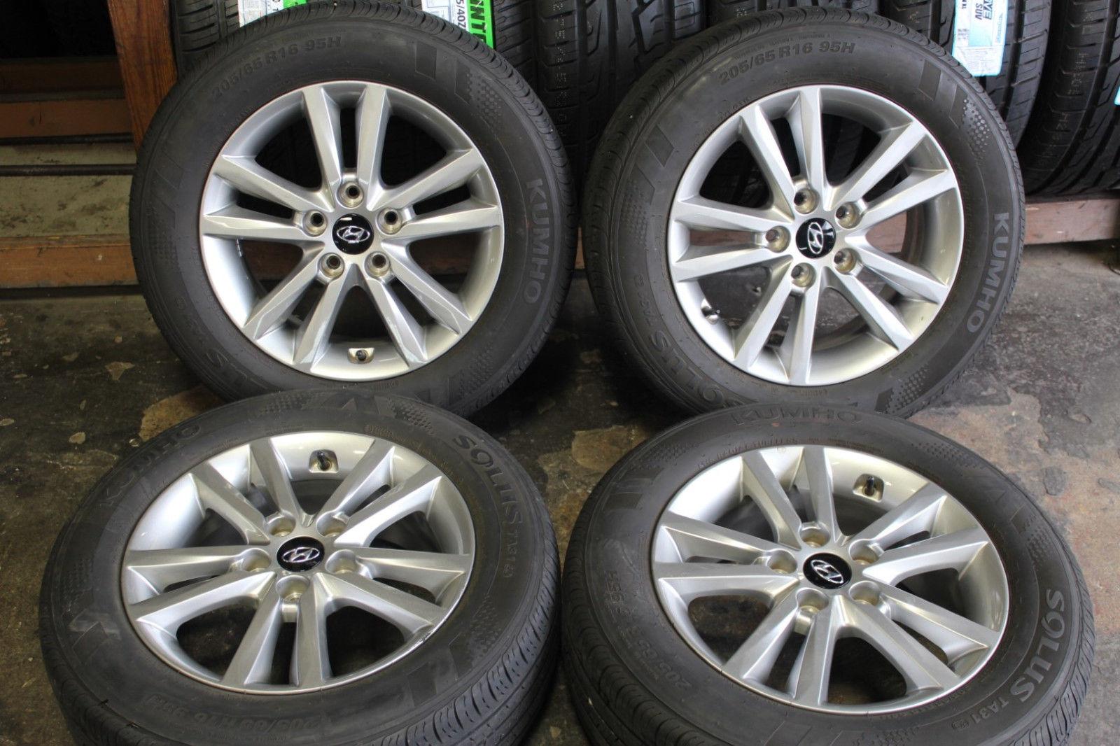 Set Of 4 Hyundai Sonata 2015 2016 16 Oem 205 65r16 95h 70866 Rims Wheels Tires Alloemrims Com